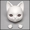 Bebe Doll Cat Head and Hand Set - Charles (White)