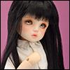 (6-7) CT Tangled Long Bang Wig (Black)