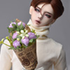 Middle Sinicus Flower Bouquet (Violet) 꽃다발