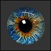 12mm Fantasy Flat Round Glass Eyes (FF03)