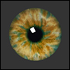 12mm Fantasy Flat Round Glass Eyes (FF09)