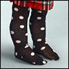 Dear doll - Dot Knee Stocking (Black)