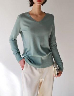 soft v neck - knit