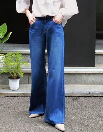 Ely wide denim pants