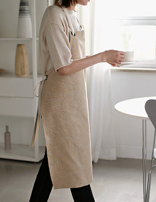 The beige apron