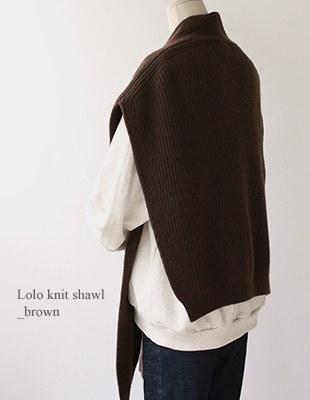 Lolo knit shawl