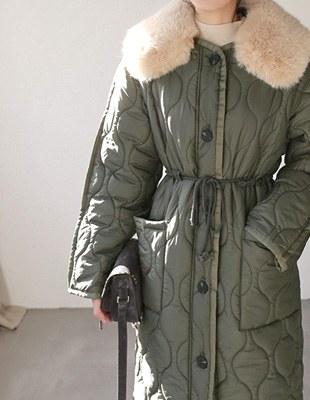 opening padding long coat