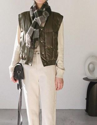 crop padding vest