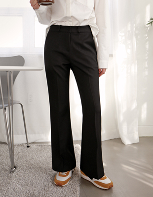 Short-napping Boot cut Pants