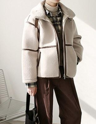 Eco shearling jacket