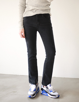 Boot cut Wool Black jeans
