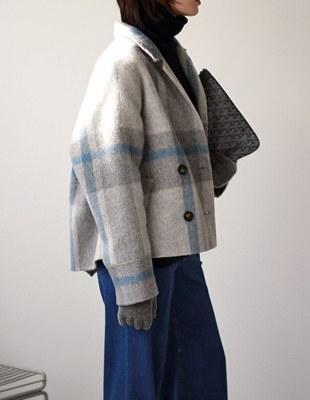 Alpaca Check handmade jacket