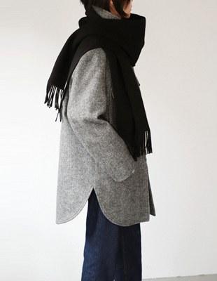 Isabel Herringbone Half Coat