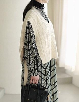 Side Split Knit Vest