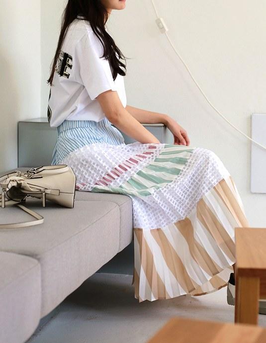 Eco Pleats Skirt