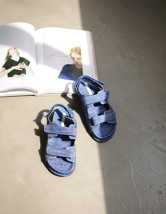 double line sandals
