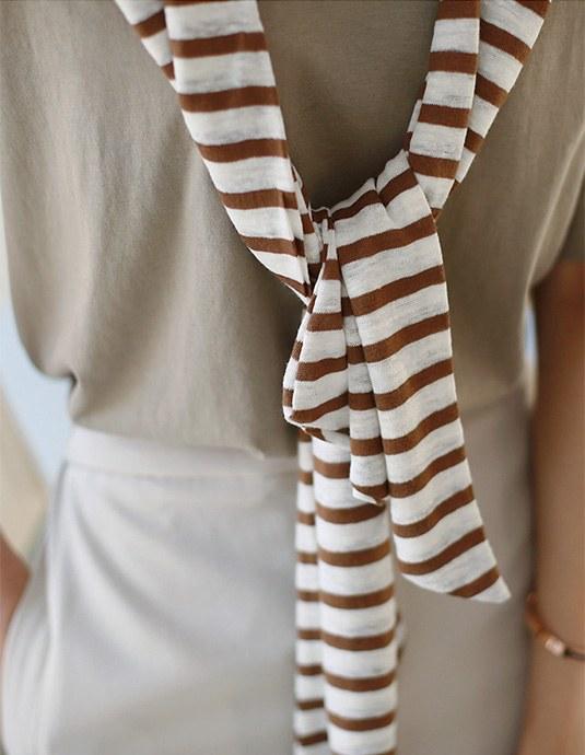 Linen Stripe Shawl