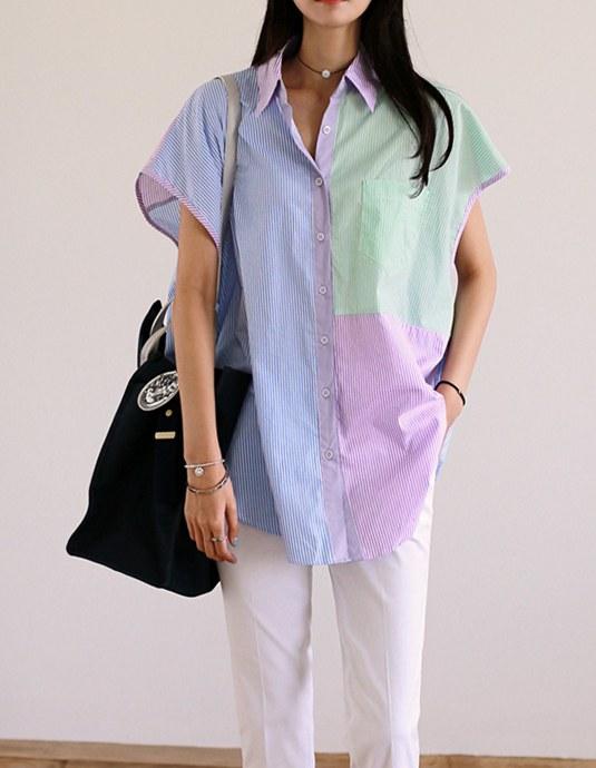 Multi Stripe Long Shirt