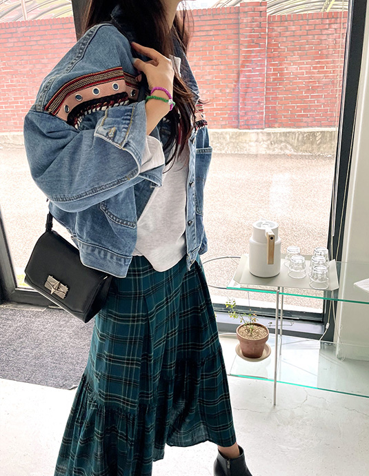 Isabel Trimming Denim Jacket
