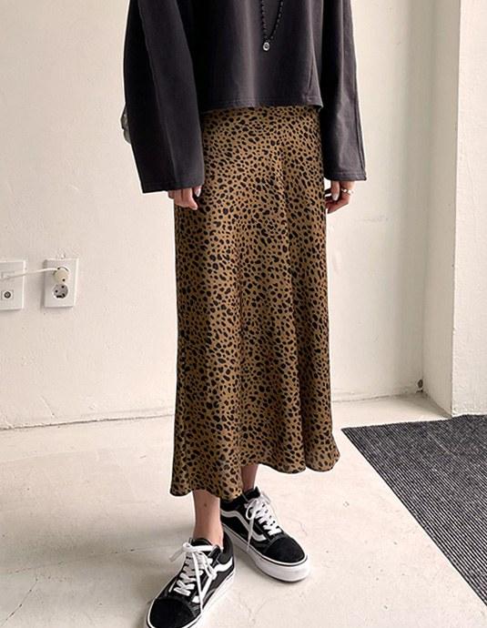 Slimfit Leopard Skirt