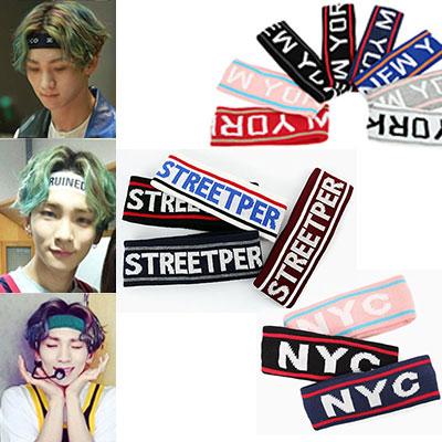 人気激安 最近ストリートファッションで流行ってるSHINEEのKEYも愛用中のヘアバンド(3種) #D