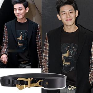 海外セレブ愛用ベルト通販韓国人気俳優ユ・アイン着用スタイルGVC風のフックポイントベルト