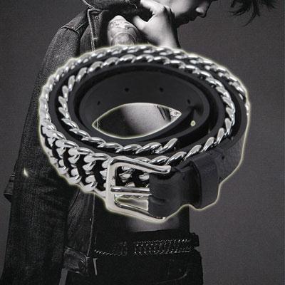 カジュアルスタイルにポイントFASHION ITEM B@L**** st. Chain Belt(2size)