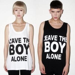 ★当日発送★BOY LONDON通販★K-POP STAR愛用 LEAVE THE BOY ALONE 半袖T-シャツ