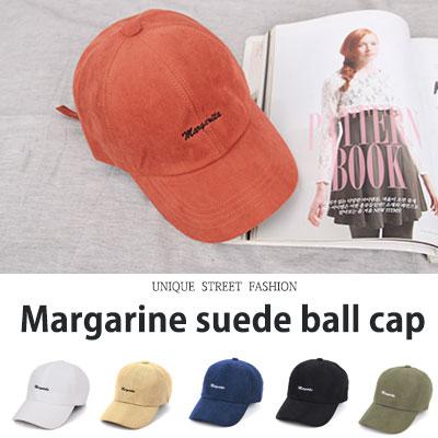 [UNISEX] マーガリンスエードボールキャップ(6color)
