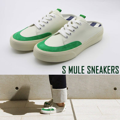 [24.5 ~ 28.0cm] S ミュールスニーカー -green