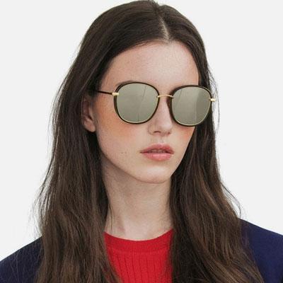 [UNISEX] ミラービッグフレームのサングラス(6color)