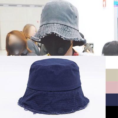 [UNISEX] BIGBANG/GD/G-dragon/ジヨン st. ダメージワイヤーバケットハット (5color)