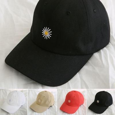 [UNISEX]デイジー刺繍ボールキャップ(4color)