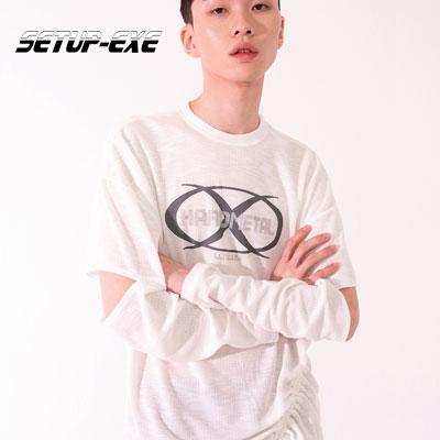 【SETUP-EXE】Sleeve slit T-shirt - ivory