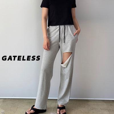 【GATELESS】ダメージバンディングパンツ (2color)