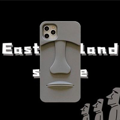 [UNISEX] イースター島モアイストーンスマホケース/スマホカバー
