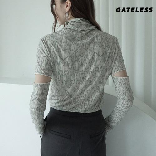 【GATELESS】カットオフスリーブtシャツ/長袖 (2color)