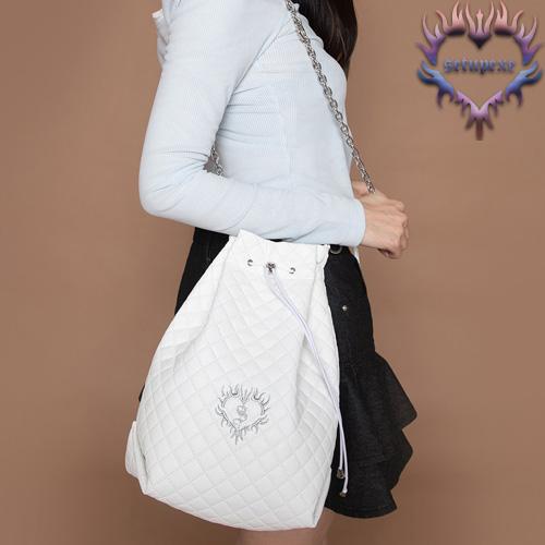 【SETUP-EXE】3-way quilting bucket Bag - white