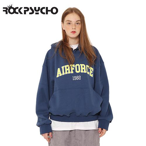 【ROCK PSYCHO】エアフォースフーディー -navy