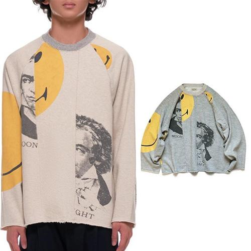 [UNISEX] ハーフベートーベンスマイルスウェットシャツ (2color)