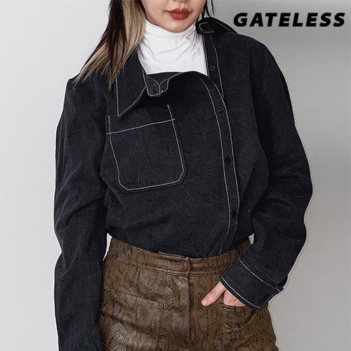 【GATELESS】デニムアンバランスシャツ