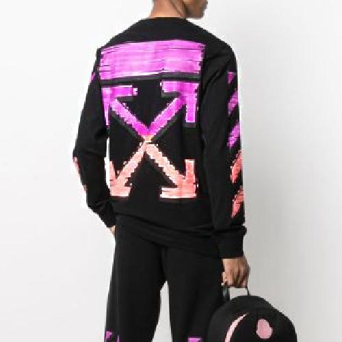 裏起毛 [UNISEX] マーカーペングラデーションスウェットシャツ (2color)