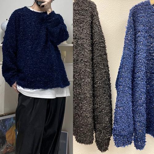 [UNISEX] エスニックファースウェットシャツ (2color)