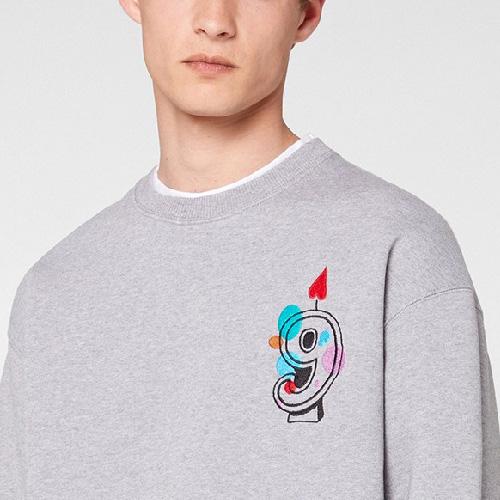 [UNISEX] ナイン刺繍スウェットシャツ (2color 4size)