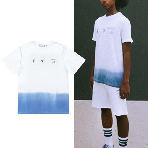 [UNISEX] ハーフプリントフィンガーTシャツ/半袖