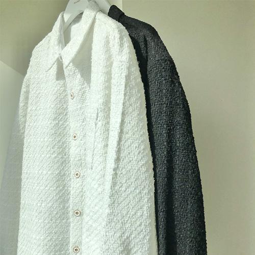 [UNISEX] ツイードシャツジャケット (2color)