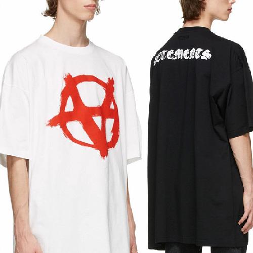 [UNISEX] フロント、バックロゴオーバーTシャツ/半袖 (2color)