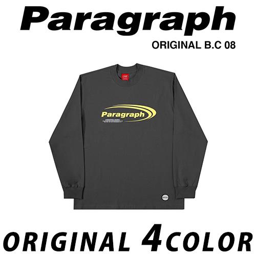 ●正規品● [21SS/Paragraph] ニューロゴTシャツ/長袖/オリジナル/パラグラフ/新着/正規品パラグラフ/ORIGINAL PARAGRAPH