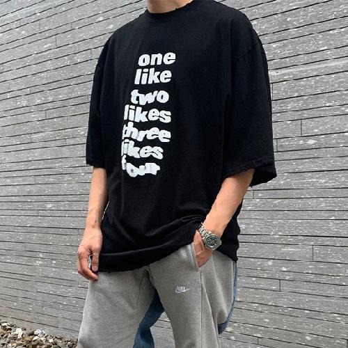 [UNISEX] ライクダメージTシャツ/半袖