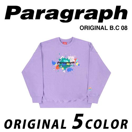 ●正規品● [21SS/Paragraph] ペイント刺繍スウェットシャツ/オリジナル/パラグラフ/新着/正規品パラグラフ/ORIGINAL PARAGRAPH